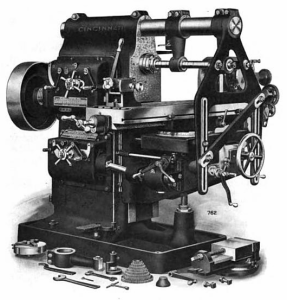 Horizontal_milling_machine--Cincinnati--early_1900s--001